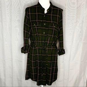 Divided H&M Plaid Button Down Dress